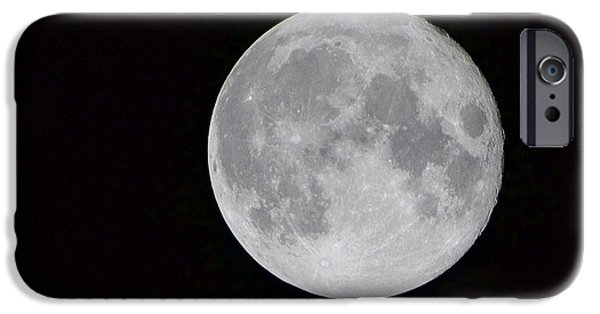 Best Sellers -  - Moonscape iPhone Cases - Full Moon iPhone Case by Craig Walker