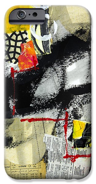 Abstractions iPhone Cases - Full Moon iPhone Case by Elena Nosyreva