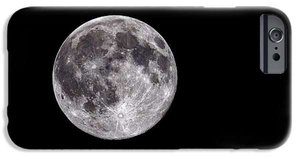 Heavenly Body iPhone Cases - Full Moon iPhone Case by Grant Glendinning