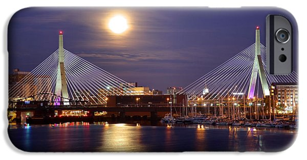 Recently Sold -  - City. Boston iPhone Cases - Full Moon in Boston iPhone Case by Denis Tangney Jr