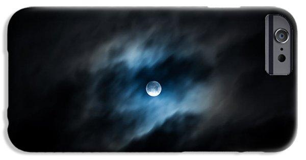 Moon Pyrography iPhone Cases - Full Moon iPhone Case by Irakli   Abashidze