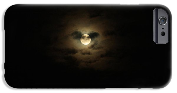 Eerie iPhone Cases - Full Moon Over Long Island iPhone Case by John Telfer