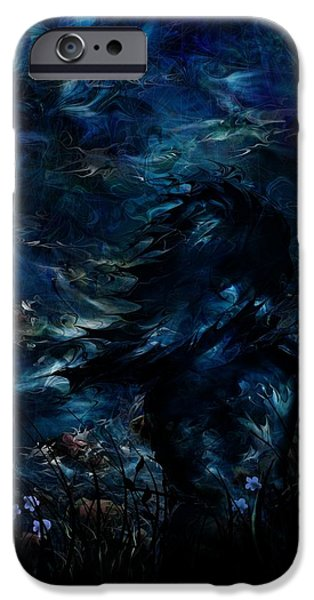 Full Moon iPhone Case by Rachel Christine Nowicki