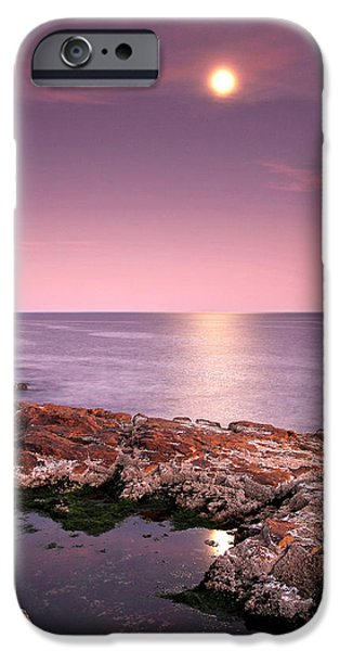 Sea Moon Full Moon iPhone Cases - Full Moon Reflection iPhone Case by Juergen Roth