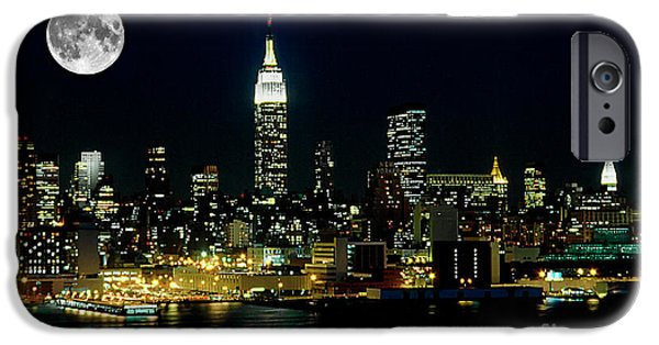 Nyc iPhone Cases - Full Moon Rising - New York City iPhone Case by Anthony Sacco