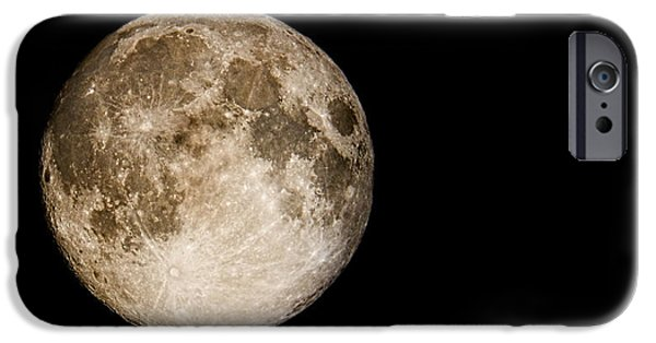 Sea Moon Full Moon iPhone Cases - Full Moon Rising iPhone Case by Weston Westmoreland