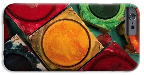 Painter Photo Photographs iPhone Cases - Full of Colors iPhone Case by Tilen Hrovatic