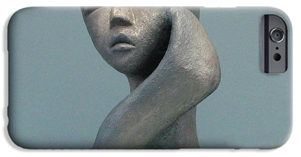 Full Sculptures iPhone Cases - Full of herself iPhone Case by Nili Tochner