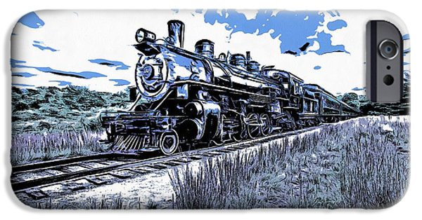 Deep River iPhone Cases - Full Steam through The Meadow Graphic iPhone Case by Edward Fielding