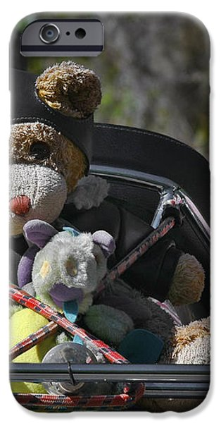 Full Throttle Teddy Bear iPhone Case by Christine Till