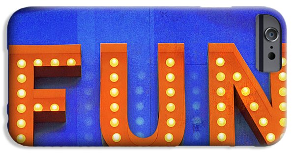Chico iPhone Cases - Fun in Lights Typography iPhone Case by AdSpice Studios