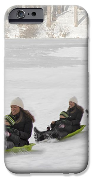 Fun In The Snow iPhone Case by Susan Candelario
