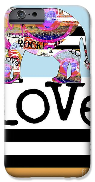 Shower Curtain iPhone Cases - Fun Rock and Roll Elephant iPhone Case by Anahi DeCanio - ArtyZen Studios