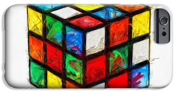 Rubiks Cube iPhone Cases - Fun Times iPhone Case by Nishanth Gopinathan