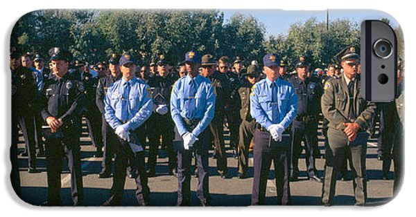 Police Officer iPhone Cases - Funeral Service For Police Officer iPhone Case by Panoramic Images