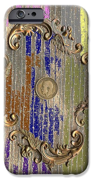 Funky British Shilling iPhone Case by Joseph Baril