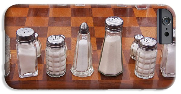 Chess Players iPhone Cases - Funky Chess Set iPhone Case by Art Block Collections