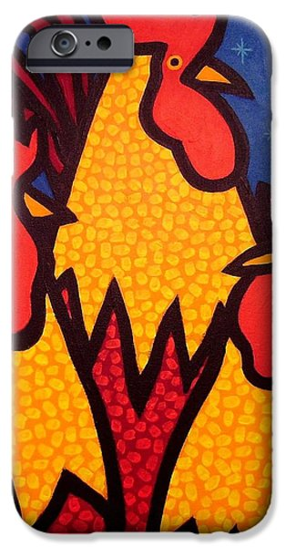 Hens iPhone Cases - Funky Roosters iPhone Case by John  Nolan