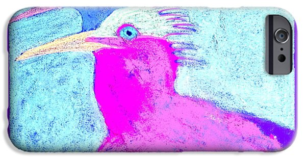 Birds iPhone Cases - Funky Royal Terns Birds Couple Art Prints iPhone Case by Sue Jacobi