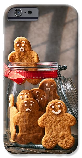 Cookie iPhone Cases - Funny gingerbread Men iPhone Case by Amanda And Christopher Elwell