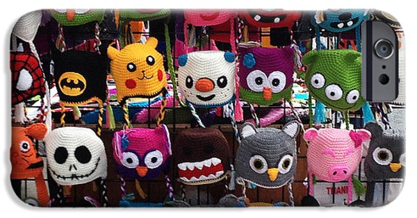 Vendor iPhone Cases - Funny Hats on the Street iPhone Case by Shari Warren