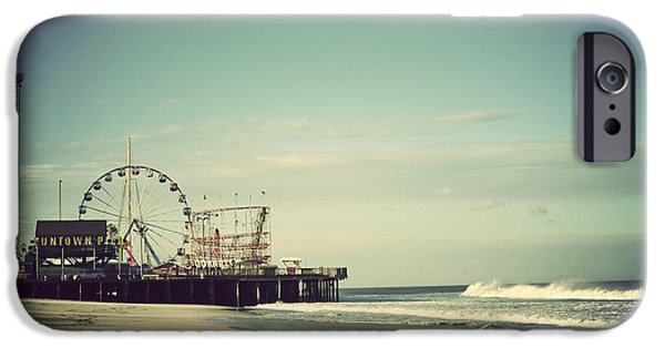 Water Photographs iPhone Cases - Funtown Pier Seaside Heights New Jersey Vintage iPhone Case by Terry DeLuco