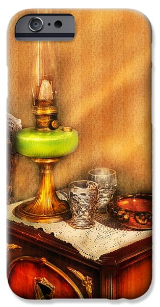 Furniture - Lamp - The Gas Lamp iPhone Case by Mike Savad