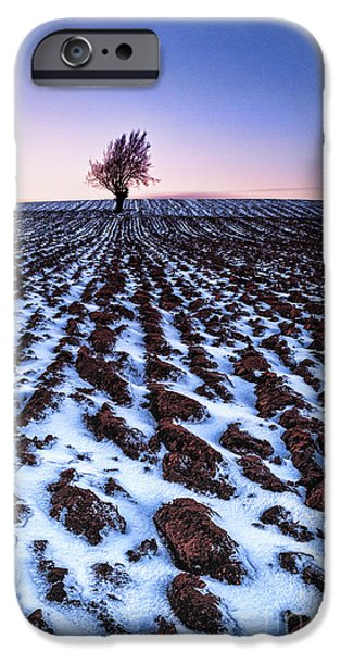 Fresh Snow iPhone Cases - Furows in the snow iPhone Case by John Farnan