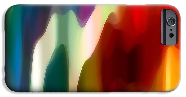 Fury Digital Art iPhone Cases - Fury 1 iPhone Case by Amy Vangsgard