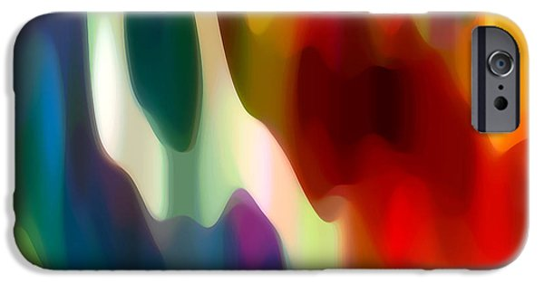 Fury Digital Art iPhone Cases - Fury 2 iPhone Case by Amy Vangsgard