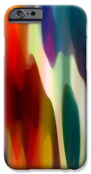 Beach Landscape Digital iPhone Cases - Fury 3 iPhone Case by Amy Vangsgard