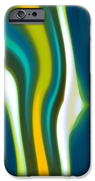 Abstract Seascape iPhone Cases - Abstract Tide 2 iPhone Case by Amy Vangsgard