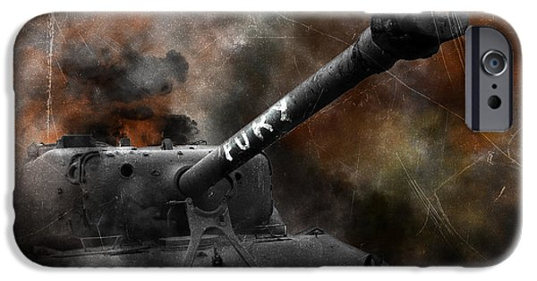 Fury Digital Art iPhone Cases - Fury iPhone Case by J Biggadike