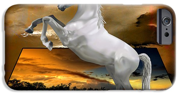 Horse iPhone Cases - Fury iPhone Case by Marvin Blaine
