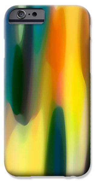 Abstractions iPhone Cases - Fury Panoramic Vertical 1 iPhone Case by Amy Vangsgard