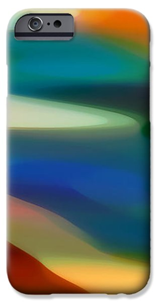 Abstract Digital Art iPhone Cases - Fury Panoramic Vertical 3 iPhone Case by Amy Vangsgard
