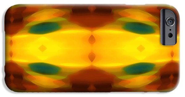 Fury Digital Art iPhone Cases - Fury Pattern 5 iPhone Case by Amy Vangsgard