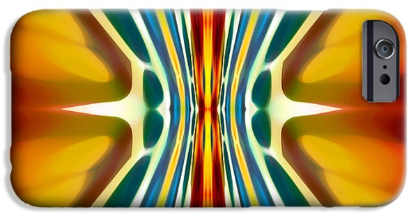 Fury Digital Art iPhone Cases - Fury Pattern 6 iPhone Case by Amy Vangsgard