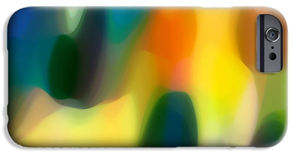 Fury Digital Art iPhone Cases - Fury Rain 1 iPhone Case by Amy Vangsgard