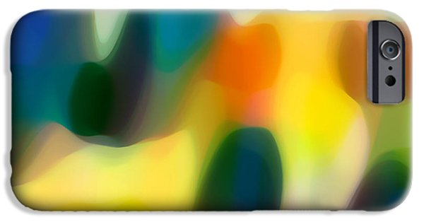 Fury Digital Art iPhone Cases - Fury Rain 2 iPhone Case by Amy Vangsgard