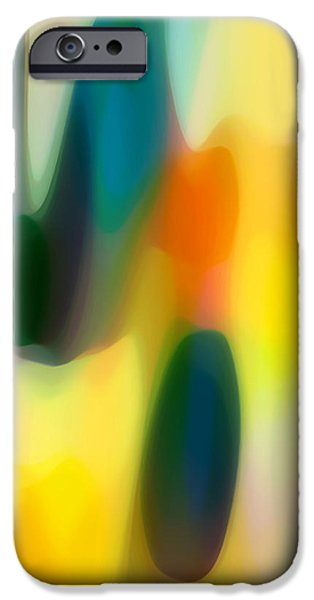 Fury Digital Art iPhone Cases - Fury Rain 3 iPhone Case by Amy Vangsgard