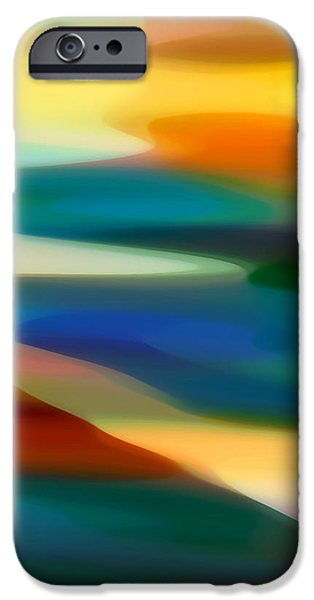 Fury Digital Art iPhone Cases - Fury Seascape 3 iPhone Case by Amy Vangsgard