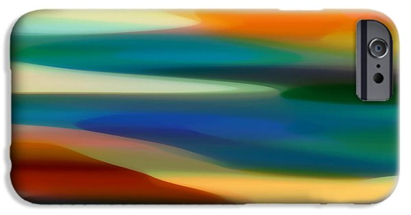Fury Digital Art iPhone Cases - Fury Seascape 4 iPhone Case by Amy Vangsgard