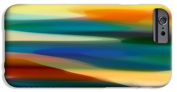 Abstract Digital Art iPhone Cases - Fury Seascape 7 iPhone Case by Amy Vangsgard