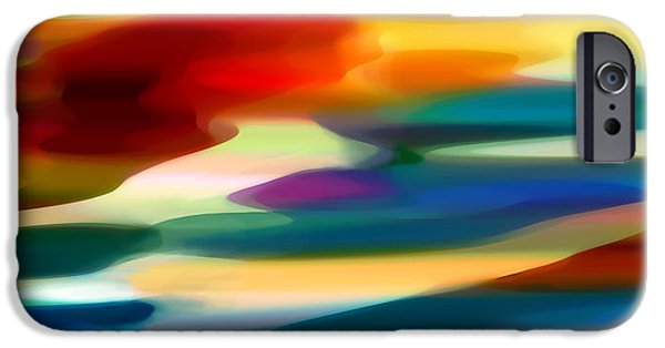 Fury Digital Art iPhone Cases - Fury Seascape iPhone Case by Amy Vangsgard