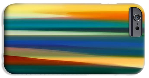 Abstract Forms iPhone Cases - Fury Seascape Panoramic 1 iPhone Case by Amy Vangsgard