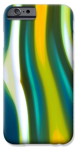 Abstract Seascape iPhone Cases - Abstract Tide 1 iPhone Case by Amy Vangsgard