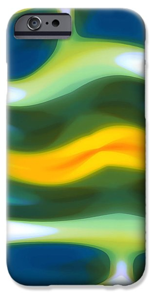 Abstract Seascape iPhone Cases - Abstract Tide 3 iPhone Case by Amy Vangsgard