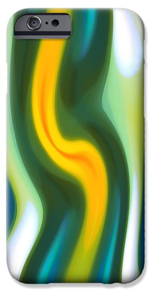 Abstract Seascape iPhone Cases - Abstract Tide 4 iPhone Case by Amy Vangsgard