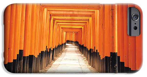 Pathway iPhone Cases - Fushima-inari Kyoto Japan iPhone Case by Panoramic Images